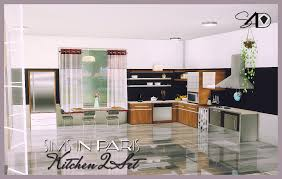 2t4 sims in paris kitchen ii sims 4 designs sims 4 kitchens