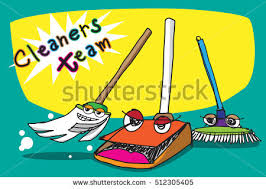 cartoon pictures of cleaning illustration cleaners team funny drawing vector stock illustration