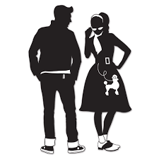 dinner silhouette 50 u0027s decade silhouettes diecut party decorations sock hop grease