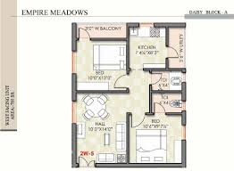 780 sq ft 2 bhk 2t apartment for sale in empire meadows meadows