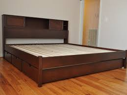 King Bed With Drawers Underneath Bed Frame Awesome Twin Size Bed Frame Solid Wood King Platform