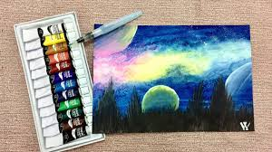 watercolor starry night sky demonstration youtube watercolor starry night sky demonstration