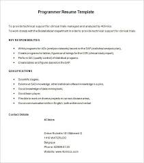 Programming Skills Resume Ideas Of Programmer Sample Resume For Format Layout Gallery