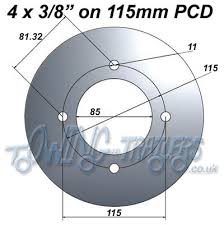 trailer wheel pcd how to work out 4 and 5 stud pcd u0027s with diagrams