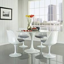 Tulip Table And Chairs Tulip Dining Set Saarinen Dining Table White Laminate Hivemodern