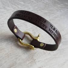 bracelet clasp images Personalised leather bolt clasp bracelet by gracie collins jpg