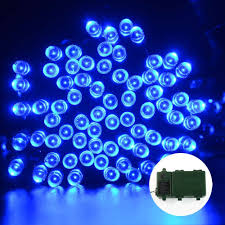 battery 50 light string lights with timer blue led small string