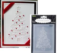 darice embossing folder christmas tree 1215 56 a2 ebay