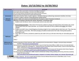 library lesson plan templates with common core standards