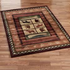 rustic area rugs cabin rug designs
