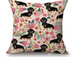 Decoration From Christmas by 2017 New Dachshund Cushion Cover Christmas Festival Bull Terrier