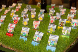 soccer party decorations creative grass escort card table teams