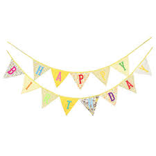 Safety Pennant Flags 1set Banners Happy Birthday Bunting Pennant Hanging Flags Kids