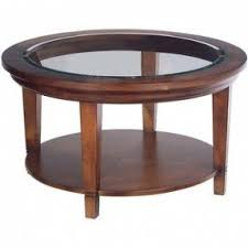 Glass And Wood Coffee Tables Round Wood Coffee Table With Glass Top Foter