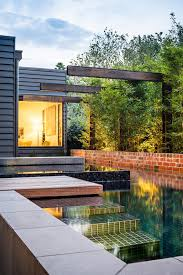 perfect modern backyard design with small home decoration ideas