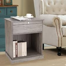nightstand splendid oak nightstand joveco square accent end side