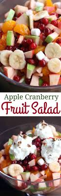 apple cranberry salad is for an easy thanksgiving side