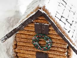 log cabin house make a log cabin gingerbread house hgtv