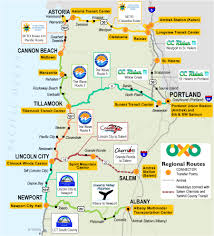 Oregon Map by Travel Oregon Coast Oregon Coast Travel Oregon Coast