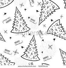 black and white christmas wrapping paper christmas trees illustration wrapping paper wallpaper stock vector