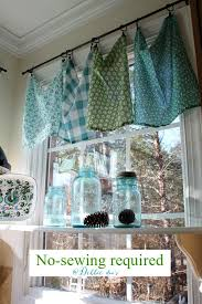 kitchen curtain ideas diy best 25 no sew valance ideas on bathroom valance
