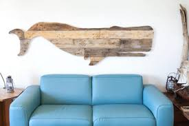 moby reclaimed whale wood nautical wood wall