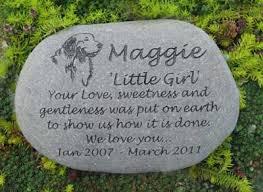 large pet memorial stones