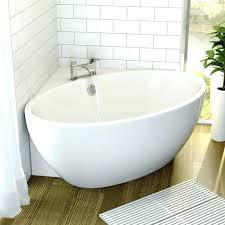 Corner Bathroom Showers Bathroom White Small Bathroom Freestanding Bathtub Gray Tile Small