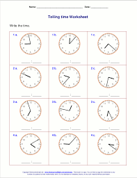 the worksheets below include problems both for telling time from