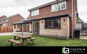 Single Story Flat Roof House Designs Single Storey Cedar Clad Extension Site View U2013 Transform