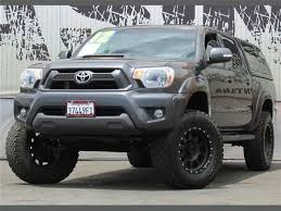 toyota tacoma shell for sale 2012 toyota tacoma truck custom lift w color matched camper shell