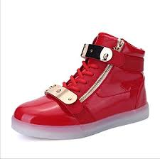 gold light up sneakers barley boy led light up shoes street style gold tone zip