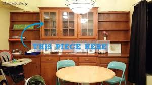 Toy Hutch Re Purposing A Dining Room Built In Hutch U2026into Playroom Toy