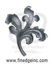 ornamental iron leaves and flowers wrought iron leaves and