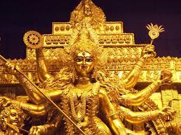 Decoration For Navratri At Home Tripura Golden Durga Idol To Enthrall People This Festive Season
