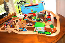 thomas the train wooden track table thomas and friends lift and load set rare wooden railway thomas and