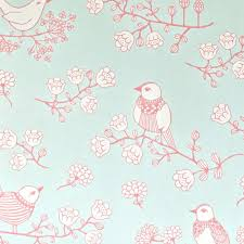chambre bébé papier peint papier peint oiseaux turquoise majvillan déco chambre enfant
