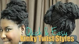 natural hair tutorial 3 quick u0026 easy twist updo styles