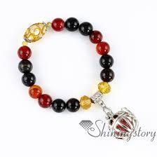bead bracelet charm images Ball bird cage openwork beaded bracelets charm bracelets diffuser jpg