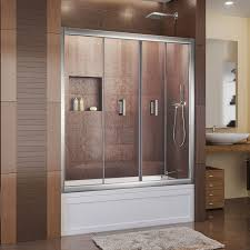 Bathtubs With Glass Shower Doors Bathrooms Design Frameless Sliding Tub Doors Tub With Door
