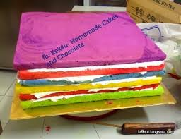 wedding cake pelangi kek4u cakes and chocolate kek pelangi saiz 11x11 inci