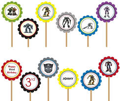 transformers bumblebee and optimus party cake topper bumblebee optimus prime transformers printable diy cupcake toppers