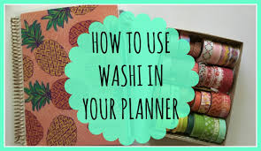 how to use washi tape in your planner erin condren horizontal
