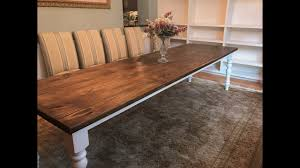 10 ft farmhouse table 10 foot farmhouse table with turned legs how to youtube
