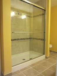 we built this custom shower into a basement bathroom with a