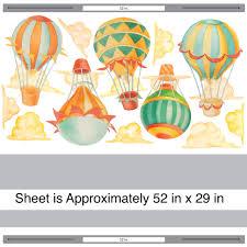 36 hot air balloon wall decals hot air balloon watercolor wall hot air balloon wall decals