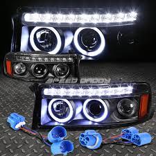 Dodge Ram 94 - black dual halo projector led drl 1pc headlight corner for 94 02