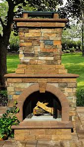 outdoor stone fireplace fireplaces cambridge pavingstones outdoor living solutions