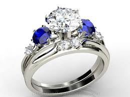r2d2 wedding ring engagement ring diamond and sapphire r2d2 3 ifec ci