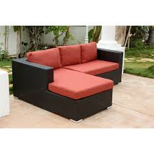 Ventura Patio Furniture by Abbyson Living Dl Rs026 Red Ventura Outdoor Black Wicker Sectional